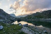 Coucher de soleil sur les Dolomites