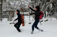 Course folle sur neige vosgienne