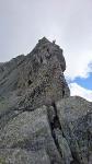 ...et presque arrivés au sommet du Piz Badile