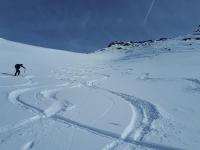 Plaisir de la montée à ski